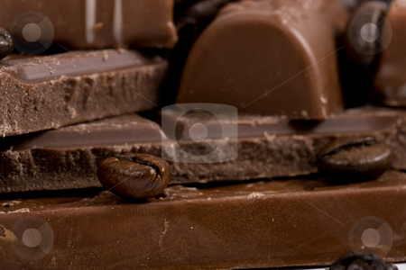 Chocolate-Coffee background stock photo, Chocolate-Coffee background by Fesus Robert