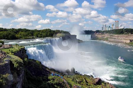 Niagara Falls stock photo, View of Niagara Falls in New York state. by Crystal Srock
