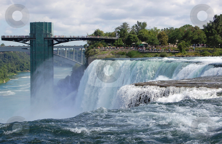 Niagara Falls stock photo, View of Niagara Falls in New York state. by Crystal Srock
