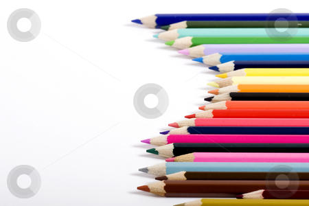 Multiple color pencils stock photo, color pencils by Fesus Robert