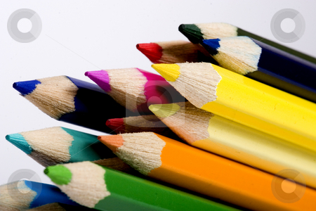 Many colored pencils stock photo, color pencils by Fesus Robert