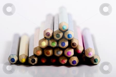 Stacked color pencils stock photo, color pencils by Fesus Robert