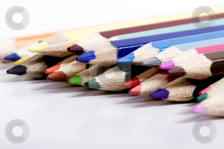 Colored pencils stock photo, color pencils by Fesus Robert