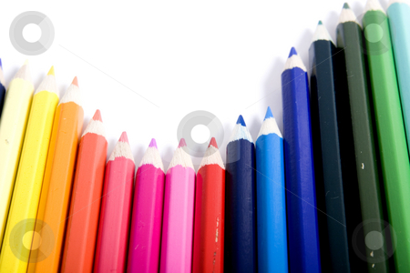 Rise and fall of color pencils stock photo, color pencils by Fesus Robert