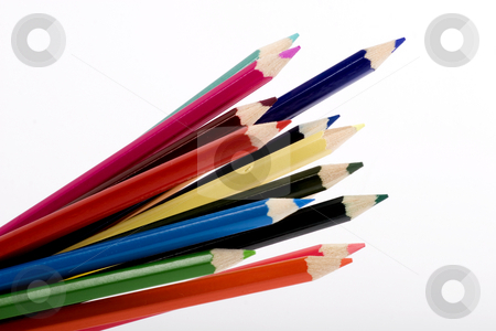Color pencils stock photo, color pencils by Fesus Robert