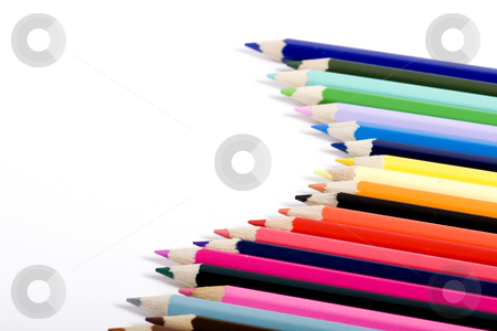 Array ofcolor pencils stock photo, color pencils by Fesus Robert