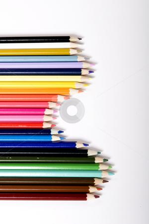 Graph of color pencils stock photo, color pencils by Fesus Robert