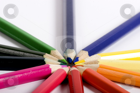 Many color pencils stock photo, color pencils by Fesus Robert