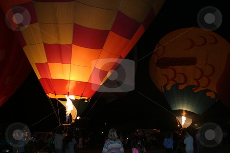 Santa Paula Balloon Festival stock photo, Annual balloon festival in Santa Paula, California. July 2008 by Henrik Lehnerer