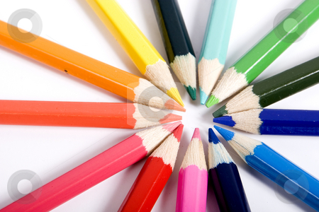 Color pencils stock photo, color pencils by Fesus Robert