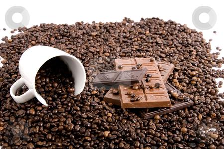 Chocolate-Coffee background stock photo, Chocolate-Coffee background by Fesus Robert