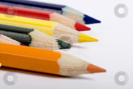 Five colored pencils stock photo, color pencils by Fesus Robert