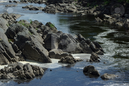 Rocky Minnesota River stock photo, Breath taking views of rapids and waterfalls abound on the St. Louis River as it flows through the rocky gabbro, balsalt, slate and shale stone outcroppings of Jay Cooke State Park in Minnesota. by Dennis Thomsen