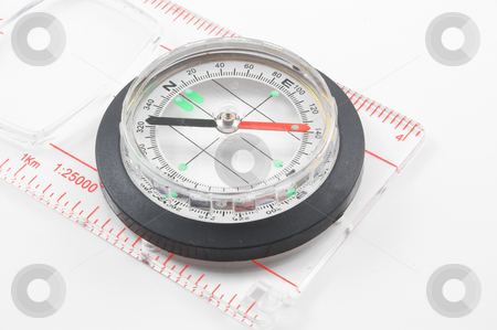 Compass stock photo, A compass for finding direction. by Robert Byron