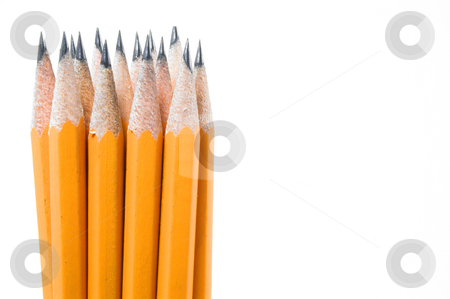 Pencil and Sharpener stock photo, A standard pencil and a pencil sharpener. by Robert Byron