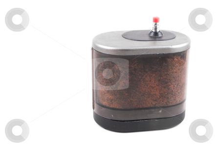 Electric Pencil Sharpener stock photo, A standard pencil and an electric pencil sharpener. by Robert Byron
