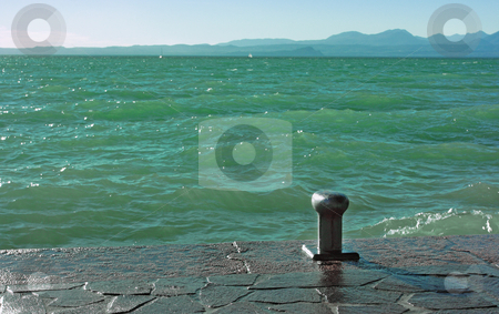 Lake Garda stock photo, Lake Garda in Bardolino (Northern Italy) with a footpath by Natalia Macheda