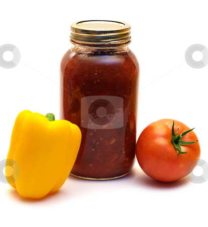 Mild Salsa stock photo, A mild salsa made with tomatoes and mild peppers by Richard Nelson