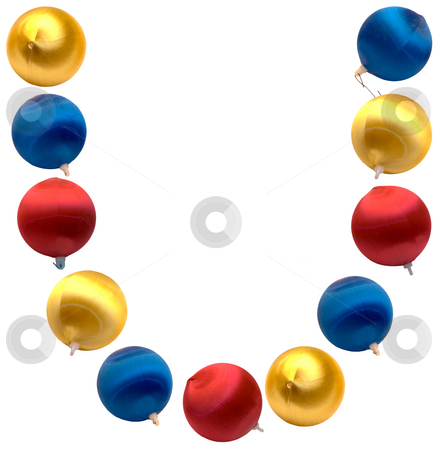 Letter U stock photo, The letter u spelled using Christmas balls, isolated on a white background by Richard Nelson