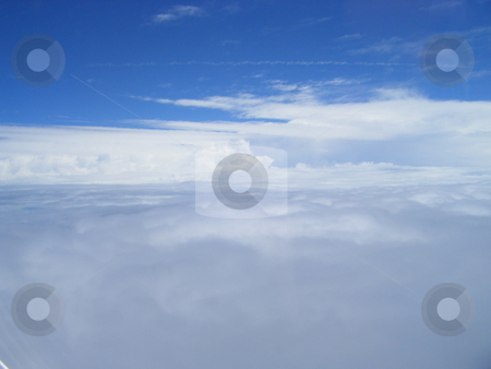 Sky High Over New Orleans Clouds stock photo, A clear Picture of some clouds somewhere over New Orleans. by David Robinson
