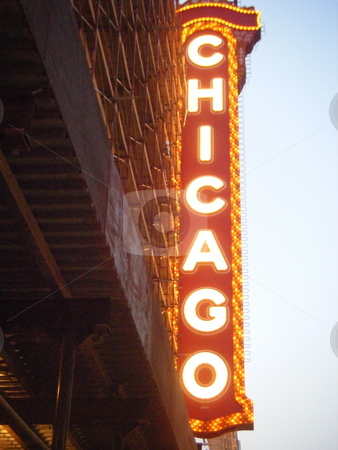 Famous Chicago Sign stock photo, A picture of a famous sign in Chicago simply saying
