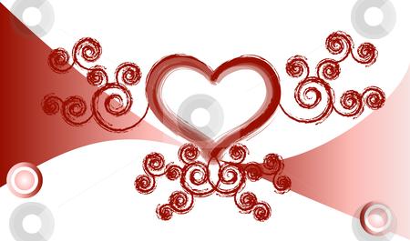 Valentine love background stock vector clipart, Valentine love background vector by John Teeter