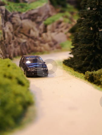 Car model stock photo, Little car on a road by Tilo