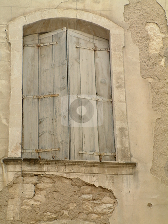 Old window stock photo, An old window in Montpellier, France by Tilo