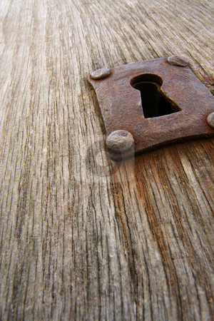 Old rusty keyhole stock photo, On an old door in le Mont-Saint-Michel by Tilo