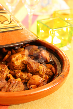 Tagine stock photo, Moroccan Tagine, an oriental cooking from north africa by Tilo