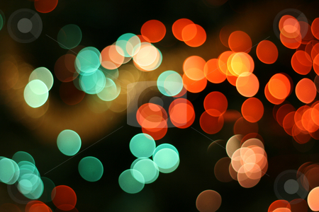 Abstract christmas background 01 stock photo, Abstract christmas background, light blur creating very nice bokeh, red and green by Tilo
