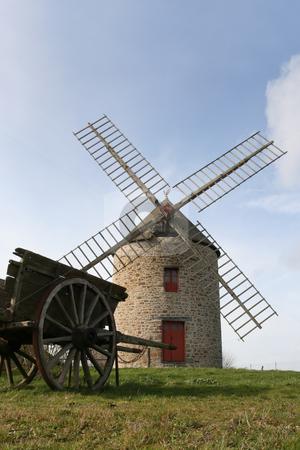 Windmill of Cherrueix stock photo, Old windmill in France (Near Mont-Saint-Michel) by Tilo
