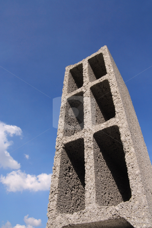 Concrete building block stock photo, Abstract vision of a construction block. by Tilo