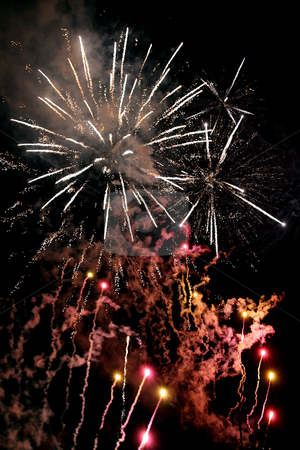 Finale fireworks stock photo, Finale fireworks, happy new year ! by Tilo