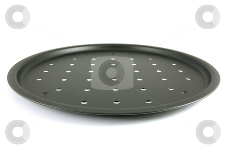 Rim Pizza Pan stock photo, Rim Pizza Pan isolated on white by Tilo