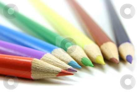 Colored pencils stock photo, Colored pencils lines by Tilo