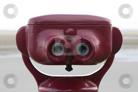 Smiling binoculars stock photo, Binoculars giving a smiling head by Tilo