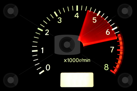 Red zone stock photo, Tachometer reaching the red zone by Tilo