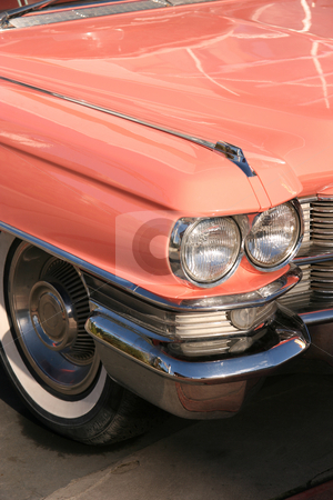 Vintage pink car stock photo, Vintage pink car by Tilo