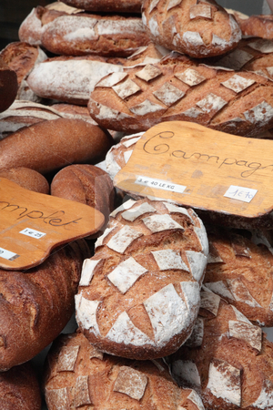 French breads stock photo, French breads in the bakery by Tilo