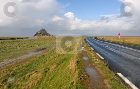 Le Mont Saint Michel stock photo, Le Mont-Saint-Michel in France by Tilo