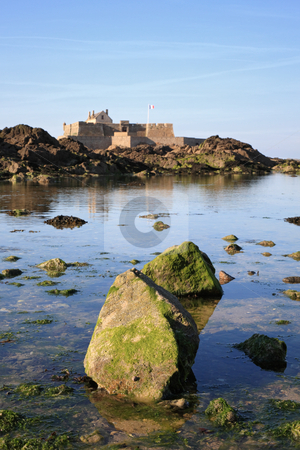 The Fort National stronghold stock photo, The Fort National Viewed from Saint-Malo, built by Vauban in 1689 by Tilo