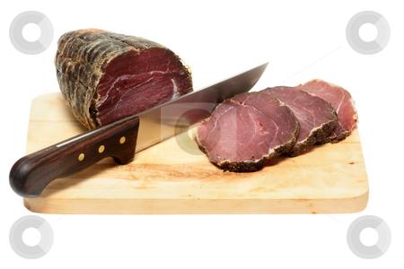 Capricollo stock photo, Capricollo - traditional italian bacon typical for Aspromonte of Calabria by Natalia Macheda