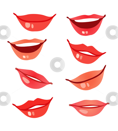 Vector Lips stock vector clipart, Lips and mouth illustrations of women by Stephanie Soon
