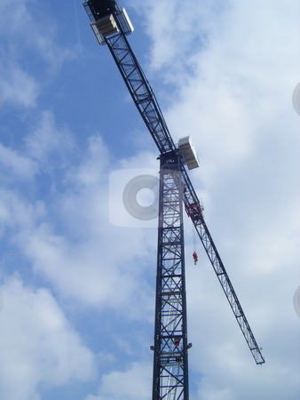 Tower crane  stock photo, A picture of a Tower Crane building the new Cube in Birmingham, a nice picture with nice blue in up above. Thanks by David Andy