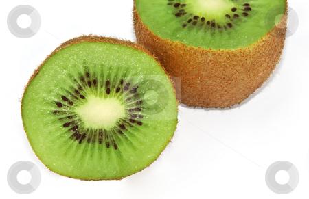 Kiwi fruit stock photo, A close up of a kiwi fruit over white by Ivan Paunovic