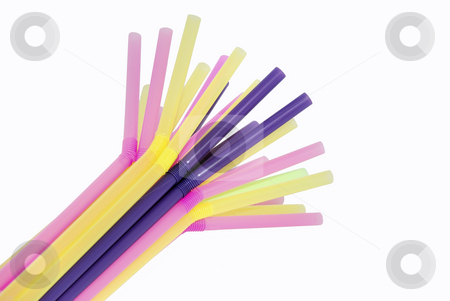 Straws stock photo, A bunch of drinking straws different color by Ivan Paunovic