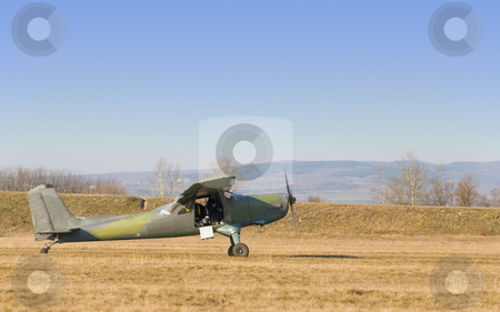 Old plane stock photo, An old plane is preparing to fly by Ivan Paunovic