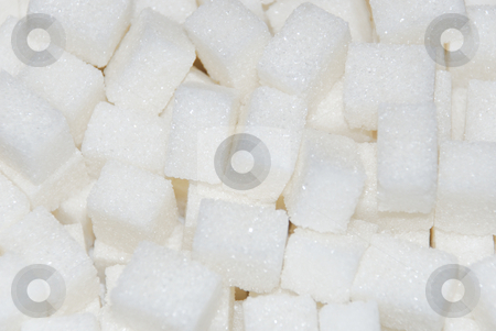Sugar cubes stock photo, A close up of a sugar cubes by Ivan Paunovic