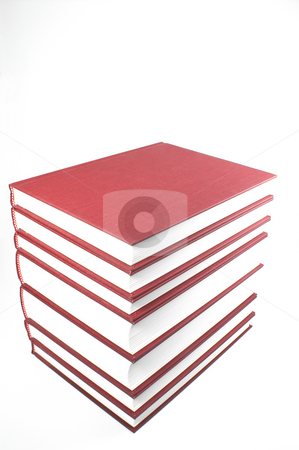 Stack of Books stock photo, A big stack of highly educational textbooks. by Robert Byron